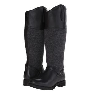 Ariat Sherborne H20 Boot Black Leather & Grey Wool